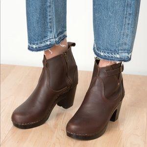 No 6 Buckle Boot High Heel - 36, brown/molasses